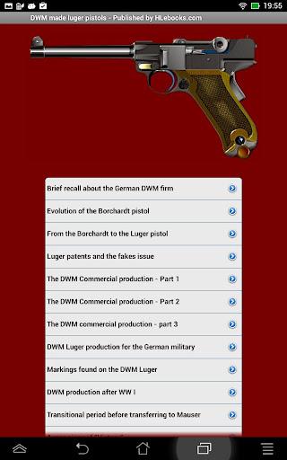 DWM made luger pistols