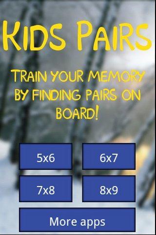 Kids pairs- screenshot