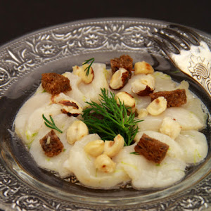 Hazelnut-Flavored Scallop Carpaccio