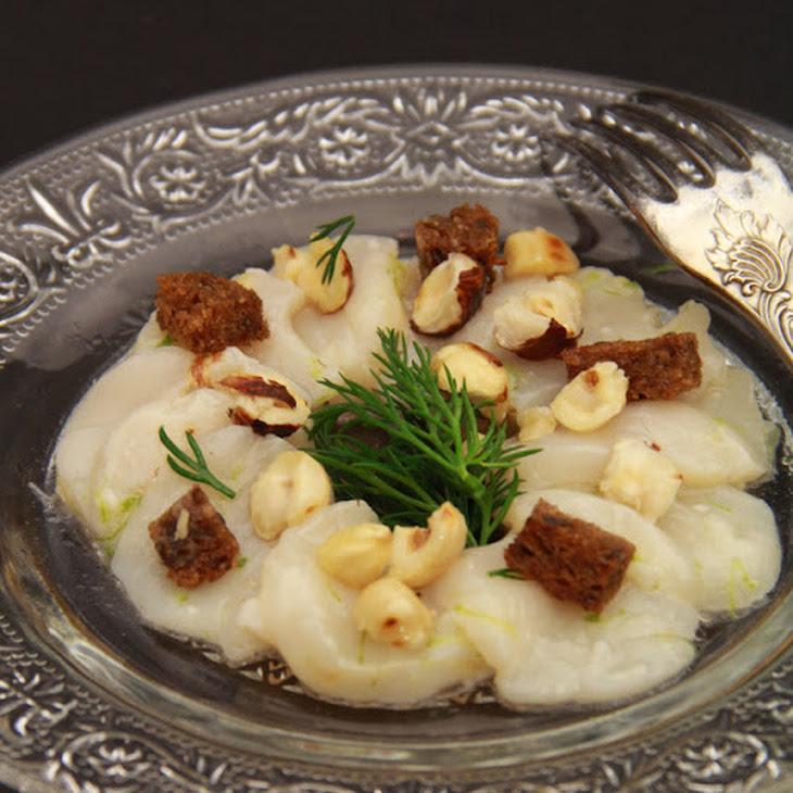 Hazelnut-Flavored Scallop Carpaccio