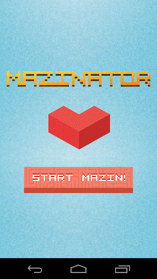 Mazinator: maze game- screenshot