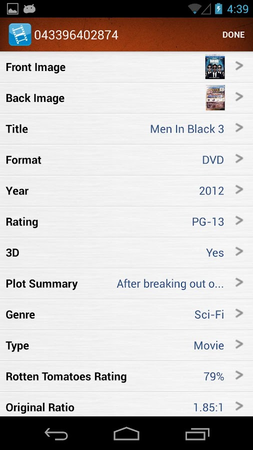 My Movies Manager & Collector - screenshot