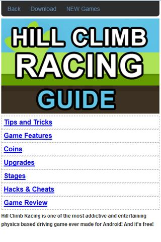 Hill Climb Racing Guide Cheats for Android Review | Appeggs.com