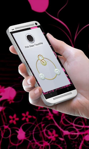 粉紅色玻璃 TouchPal Theme