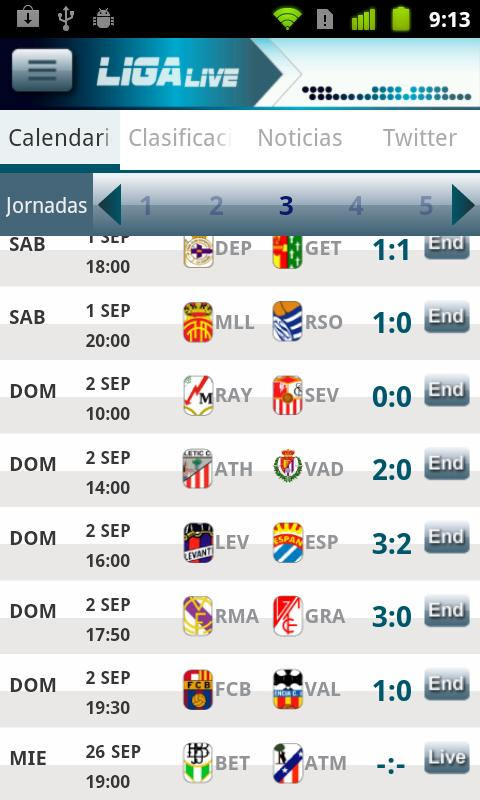 Liga Live - screenshot