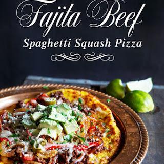 Fajita Beef Spaghetti Squash Pizza