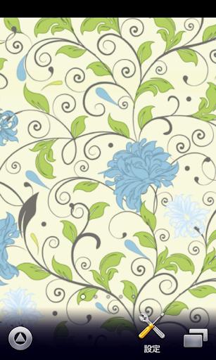 フローラルな花柄♪【スマホ待ち受け壁紙】
