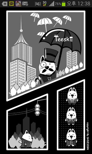 카카오톡 테마 - Teeskii Black White