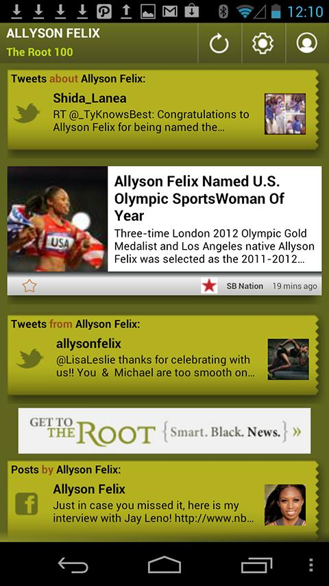 Allyson Felix: The Root 100 - screenshot