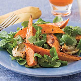 Roasted Sweet Potato Salad With Citrus Vinaigrette.