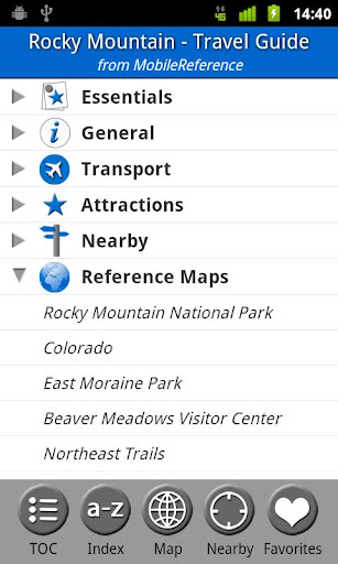Rocky Mountain NP Guide Map