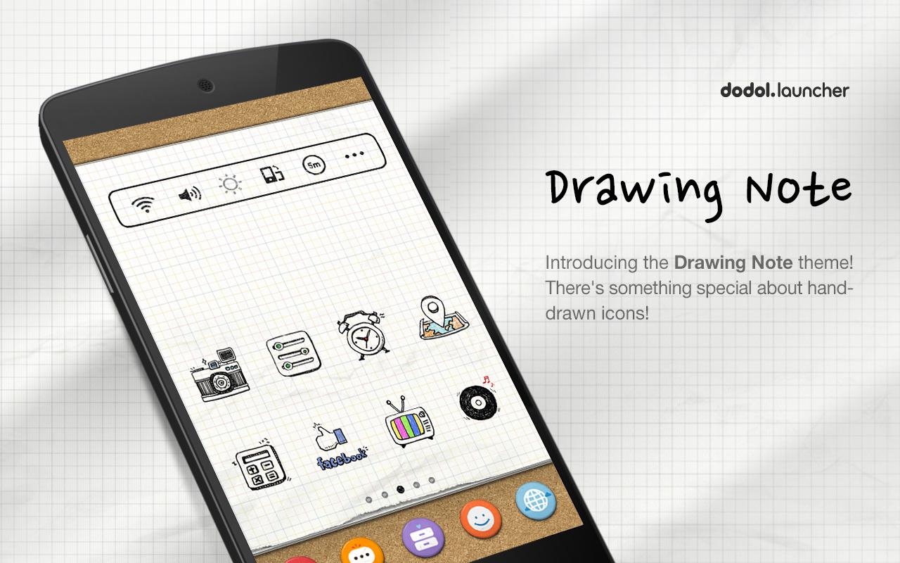 Google themes got7 - Drawingnote Linelauncher Theme Screenshot