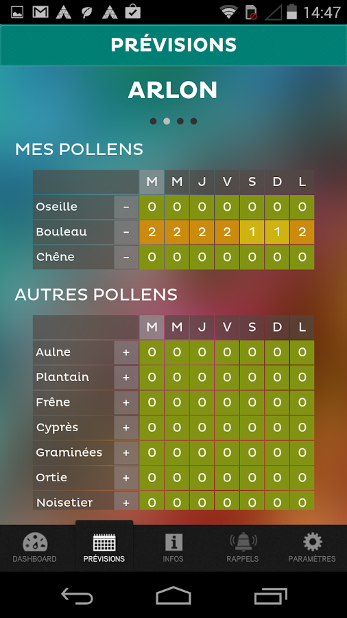 Pollen Info - screenshot