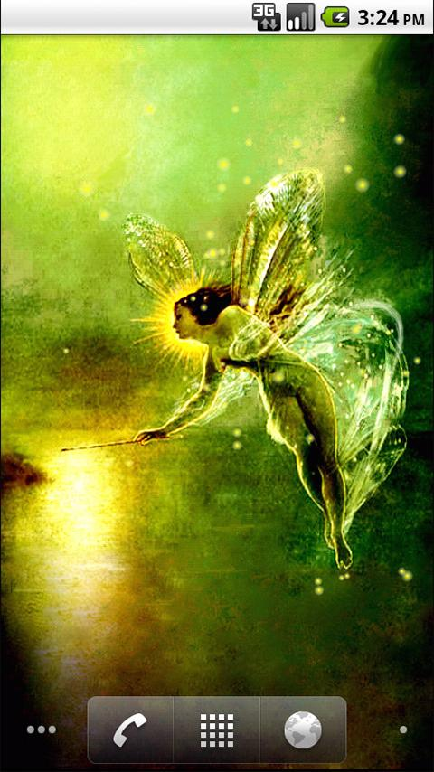 Golden Fairy LWP- screenshot