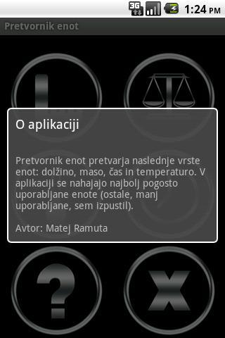 Pretvornik enot- screenshot