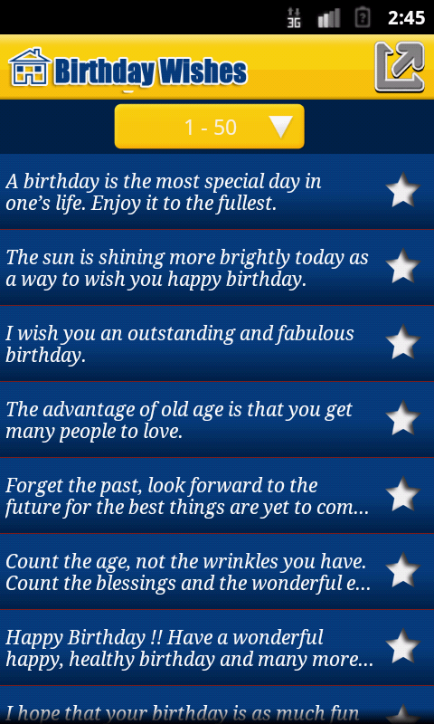 Happy Birthday Wishes Quote - screenshot