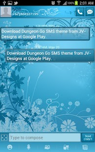 Turquoise Go SMS Theme - screenshot thumbnail