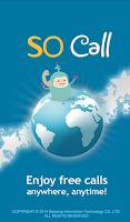 Screenshot of SOCall Free International Call