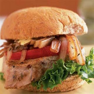 Seared Tuna Sandwich with Balsamic Onions.