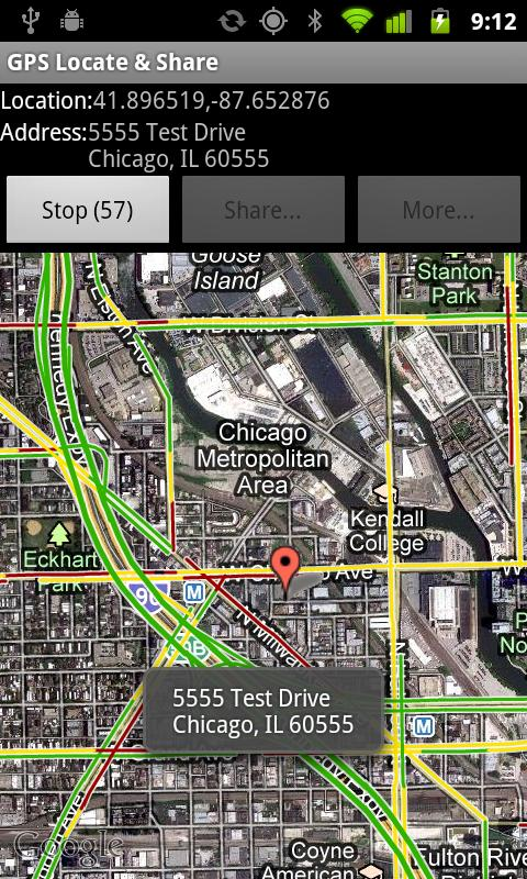 GPS Locate & Share Free - screenshot