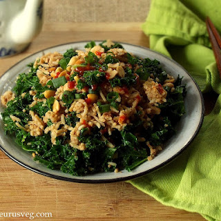 Peanut Butter and Kale Fried Rice.