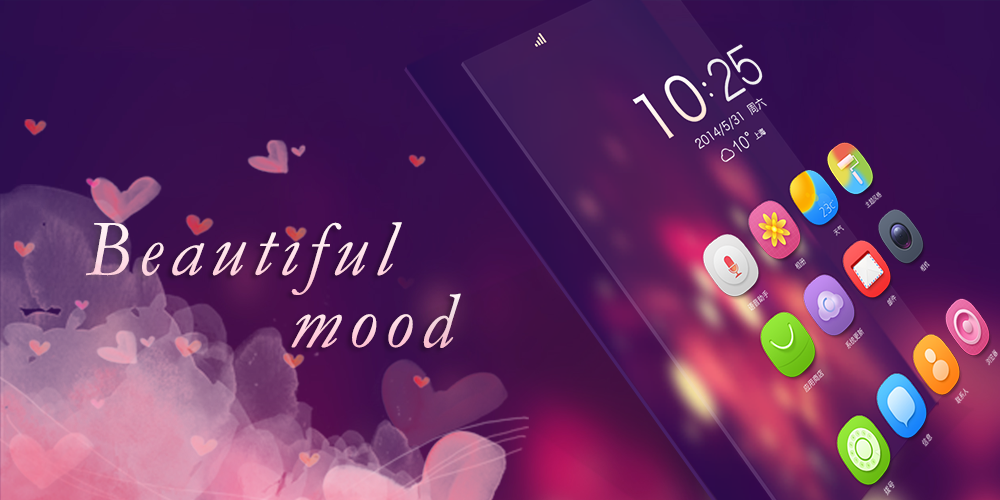 Beautiful Mood GO Theme - screenshot