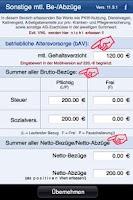 Screenshot of Gehaltsrechner inkl. bAV
