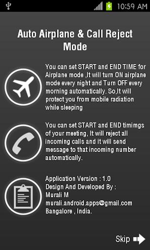 Auto Airplane CallReject Mode