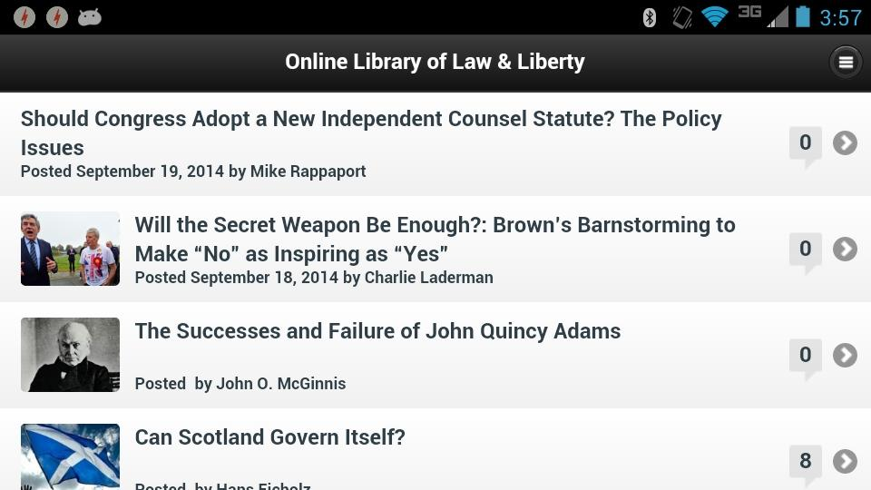 Library of Law & Liberty- screenshot