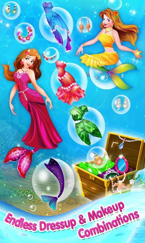 Mermaid Princess Makeover Game - screenshot