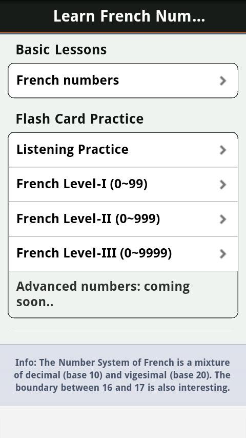 Learn French Numbers, Fast! - screenshot