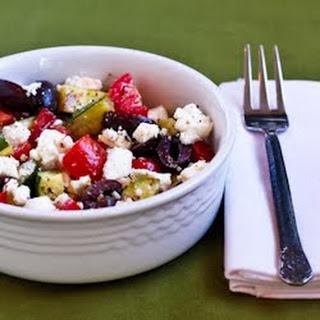 Grilled Zucchini Greek Salad.