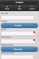 Screenshot of DroidMart Sales System