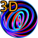 3D Hypnotic Spiral Rings FREE icon