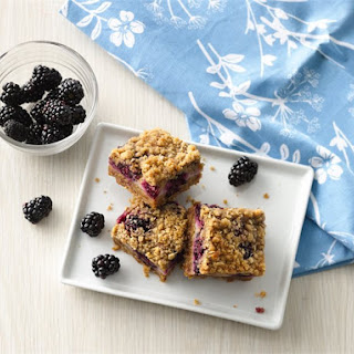 Yogurt and Blackberry Crumble Bars.