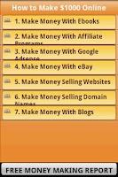 Screenshot of Free Make Money Online Tips