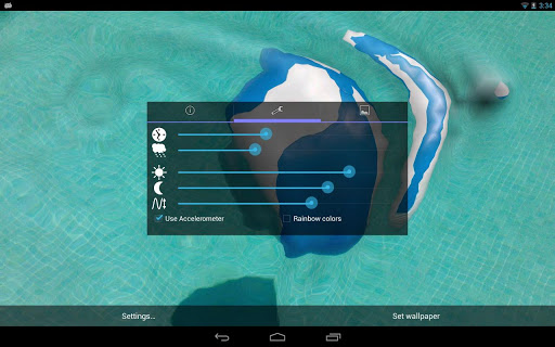 Water Touch Pro Live Wallpaper app for Android screenshot
