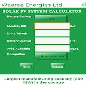 PV Solar Calculator by Waaree