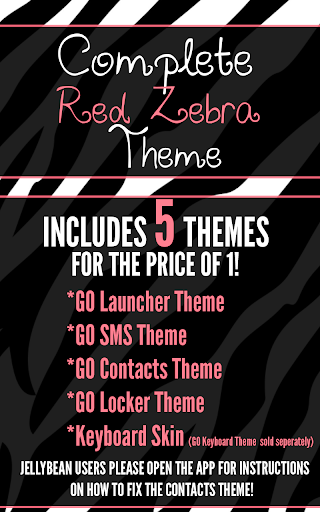 Complete Red Zebra Theme