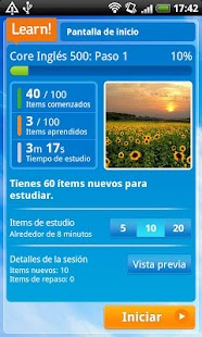 Cerego English - español - screenshot thumbnail
