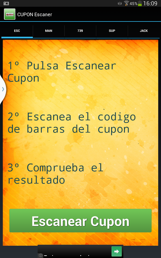 ONCE - Escaner de Cupones- screenshot
