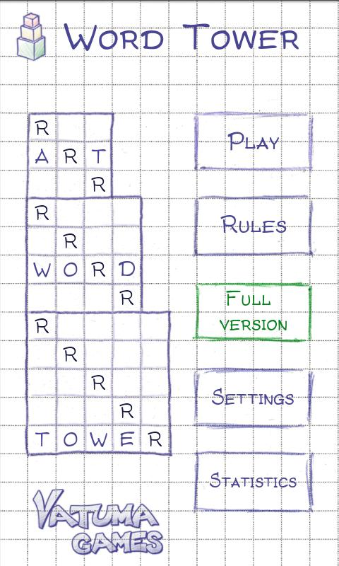 Word Tower Free (word game) - screenshot