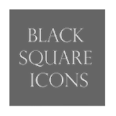 Black Square Transparent Icons