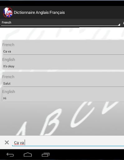 Dictionnaire Anglais Franu00e7ais 2.0 screenshots 8