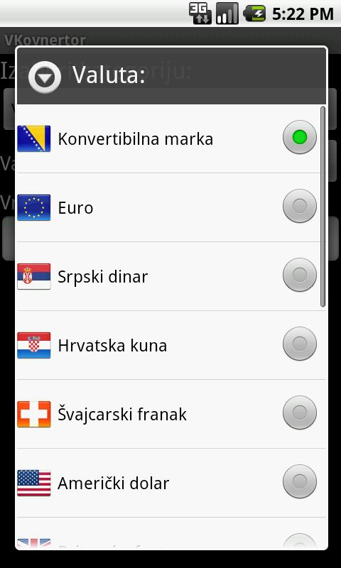 VKonvertor - konvertor valuta- screenshot