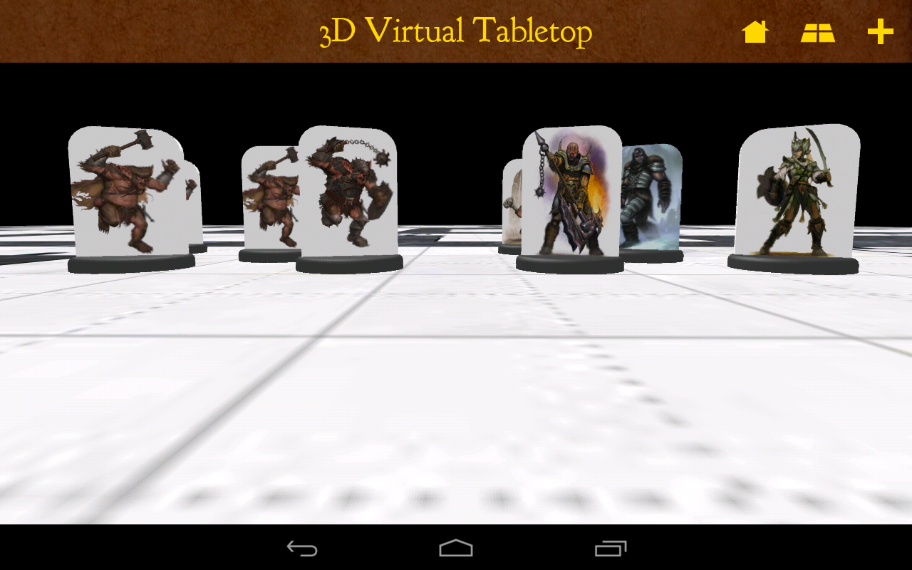 3D Virtual Tabletop - screenshot