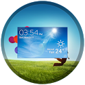 UCCW Skin - Galaxy S 4 Clock icon