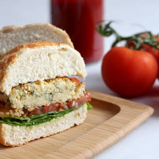 Spinach And Feta Chickpea Burgers.