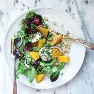 Golden Beet & Quinoa Salad with Baked Goat Cheese