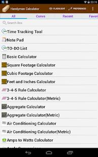 Handyman Calculator Pro (Key) - Apps on Google Play